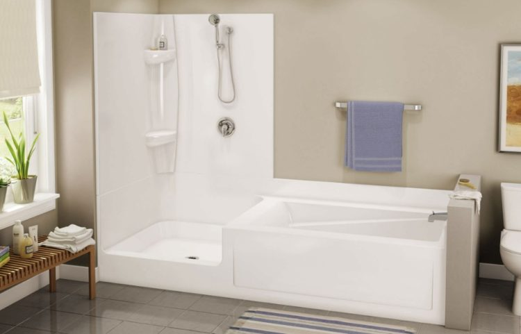 square tub shower combo. Bathtub Shower Combo Design Ideas For Wonderful Bathroom Area