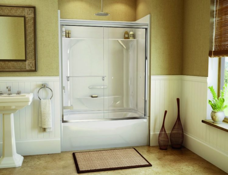 Exciting Bathtub Shower Combo Ideas For Wonderful Bathroom Area Design