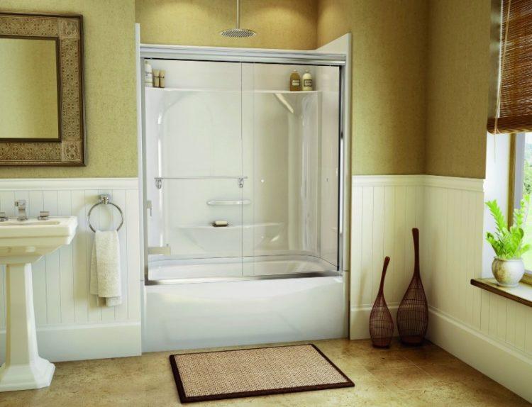 Bathtub Shower Combo Ideas For Wonderful Bathroom Area Design