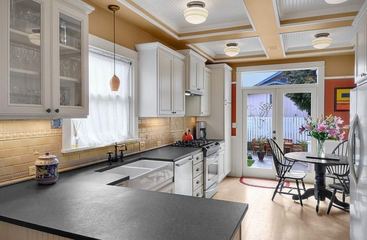 15 Slate Countertops Design Ideas For Generate More Valuable Cooking Time 13