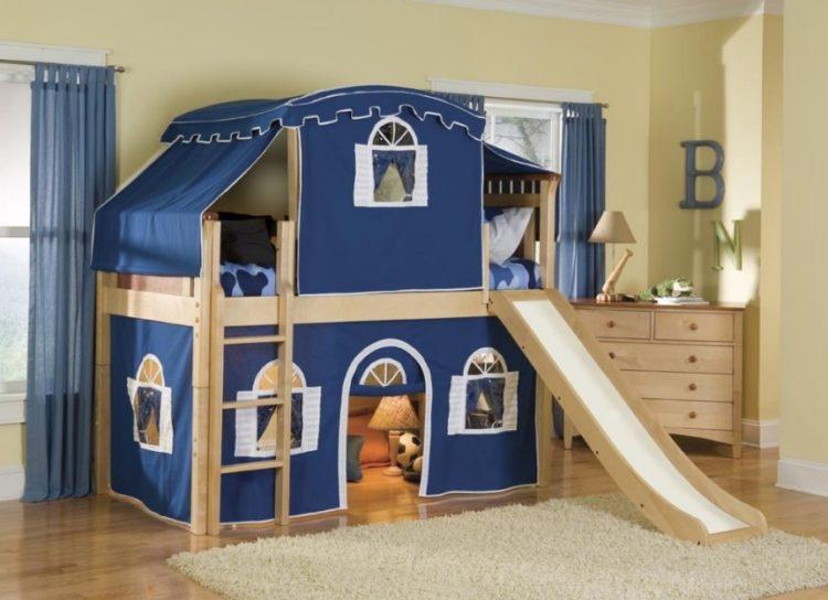 Kids Built-In Bunk Beds Design