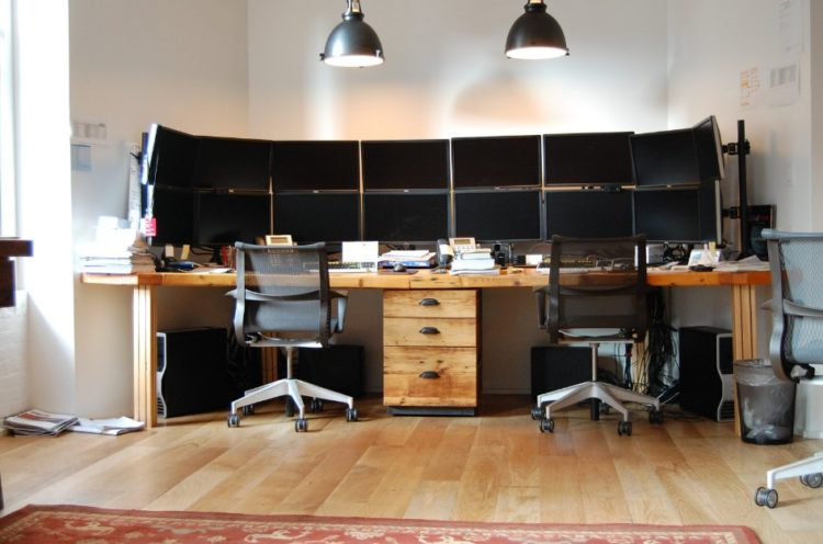 Two person desk design for your wonderful home office area Desk for two persons