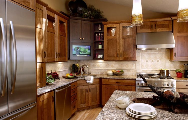 23 Exciting Design of Corner Kitchen Sink Ideas For Best Cooking Experience 2