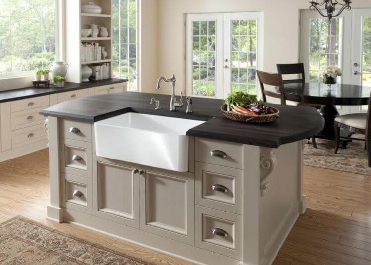 Corner Kitchen Sink Design