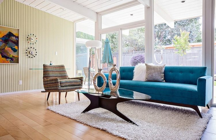 Back to Vintage with Attractive Mid Century Modern Living Room Design Ideas 8