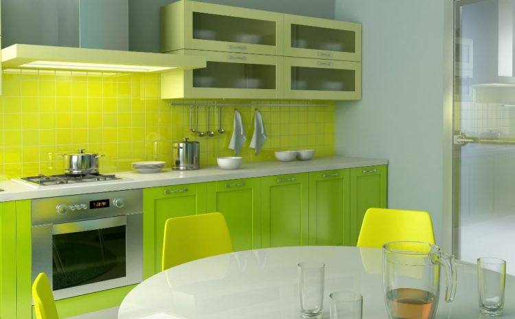 Chic Light Green Kitchen Cabinets Design