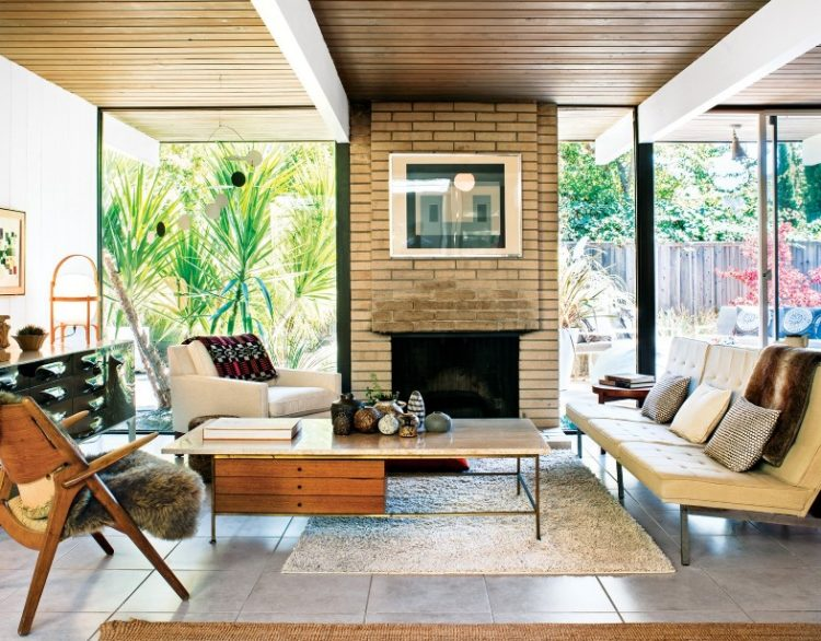 Back to Vintage with Attractive Mid Century Modern Living Room Design Ideas 3