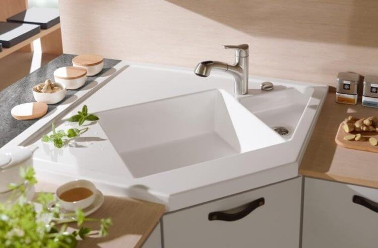 corner kitchen sink ideas for best cooking experience