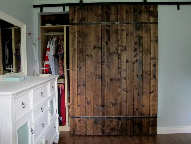 minimalist sliding wooden closet door design - Door Design Ideas