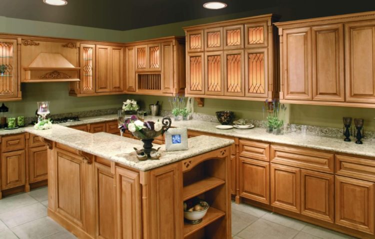 Comfort Cooking Experience with Eclectic Oak Kitchen Cabinets Design Ideas 3