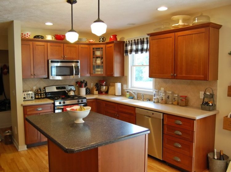 Comfort Cooking Experience with Eclectic Oak Kitchen Cabinets Design Ideas 1