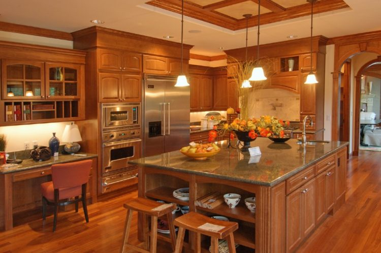 Comfort Cooking Experience with Eclectic Oak Kitchen Cabinets Design Ideas 9