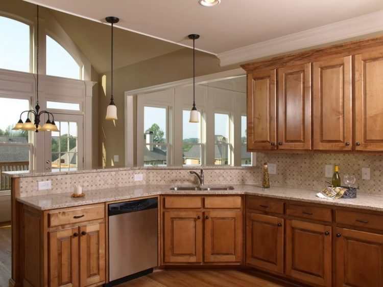 Comfort Cooking Experience with Eclectic Oak Kitchen Cabinets Design Ideas 11