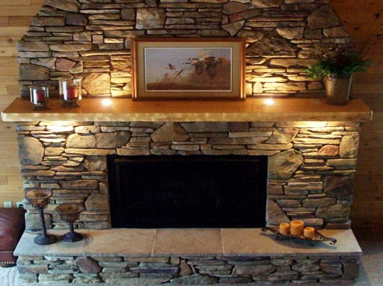 Stacked Stone Fireplace Design in Your Charming Living Room