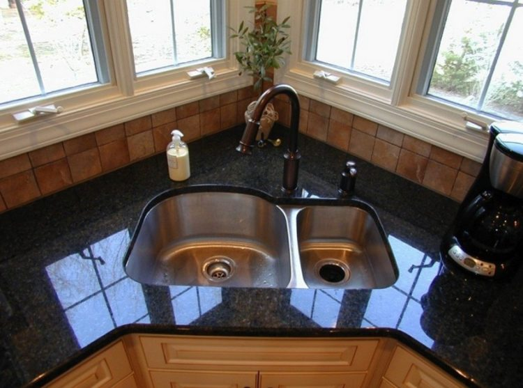 Corner Kitchen Area Sink Ideas