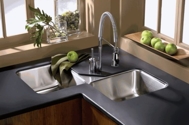 23 Corner Kitchen Sink Ideas For Best Cooking Experience on Kitchen Sink Ideas  id=76248