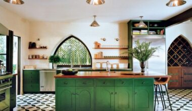 Change Your State of Mind by Altering The Soothing Green Kitchen Cabinets Design 2