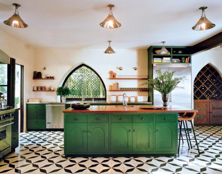 Change Your State of Mind by Altering The Soothing Green Kitchen Cabinets Design 14