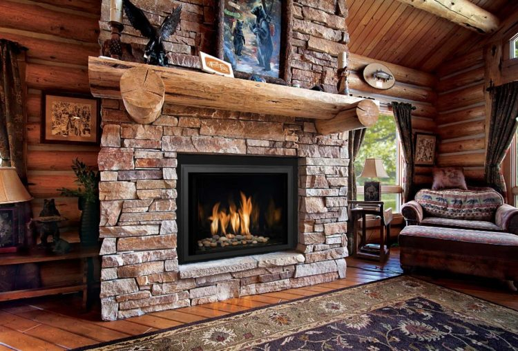 charming empty living room fireplace | Stacked Stone Fireplace Design in Your Charming Living Room