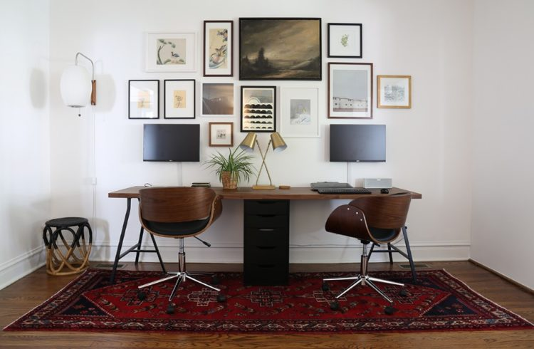 Exciting Two Person Desk Design