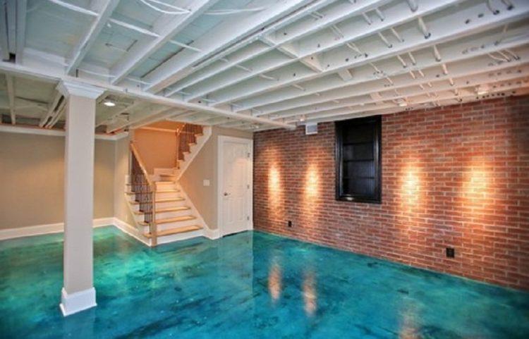 Basement Floor Paint Design