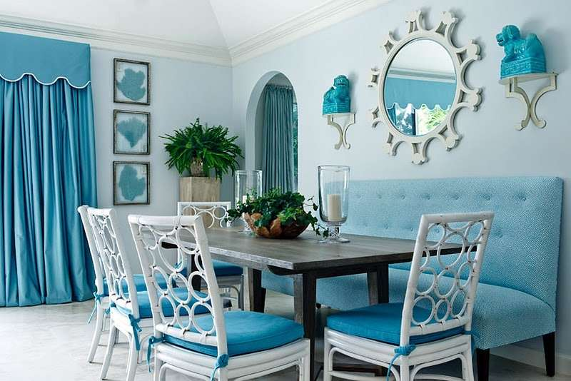 All-in-One Turquoise Dining Room Design