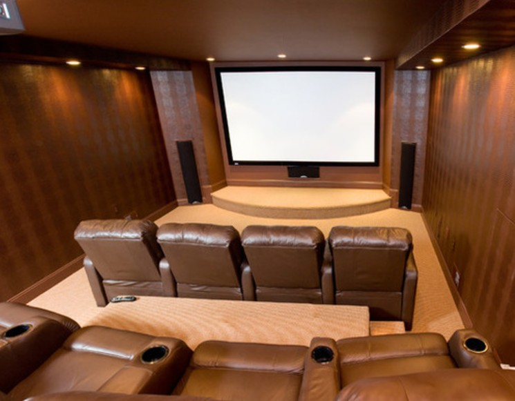 Merveilleux Finished Basement Home Theater Ideas