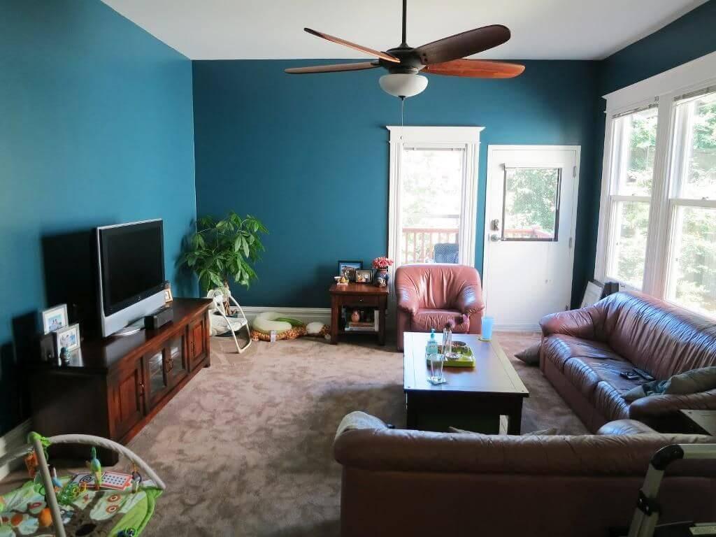 Dark Turquoise Living Room Design Ideas