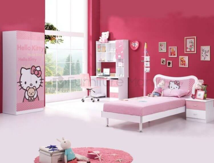Hello Kitty bedroom ideas For Girls Only  Lovely Bedroom Decoration Ideas TSP