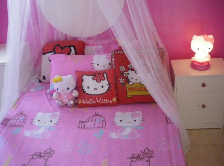 For Girls Only Lovely Hello Kitty Bedroom Decoration Ideas Tsp Home Decor