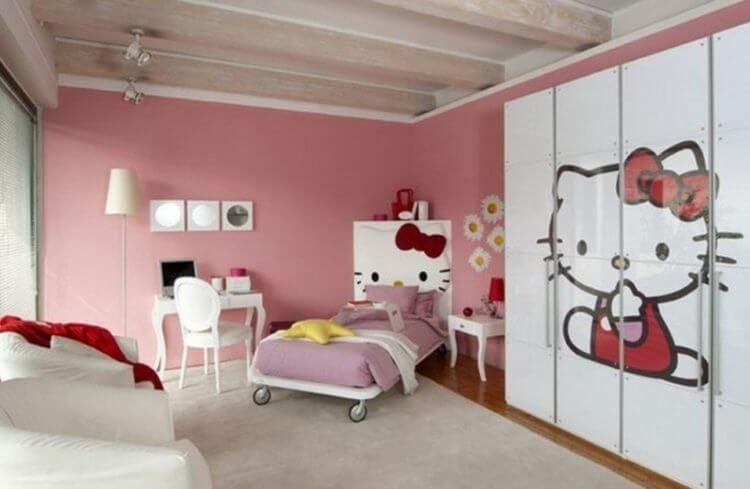 for girls only lovely hello kitty bedroom decoration ideas