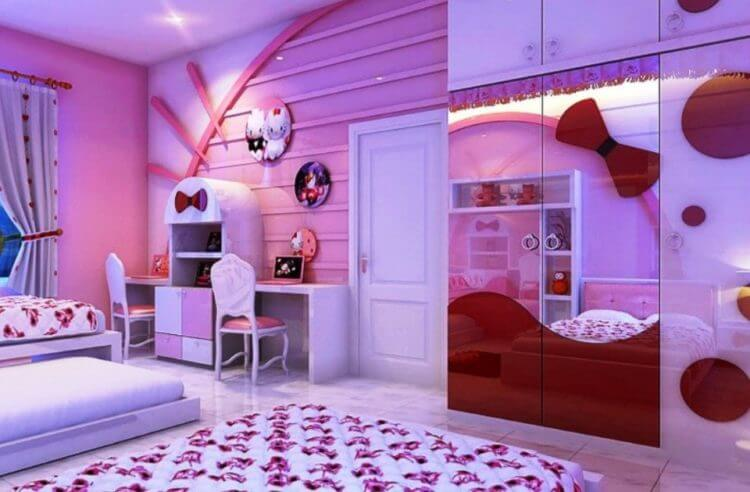 For Girls Only Lovely Hello Kitty Bedroom Decoration