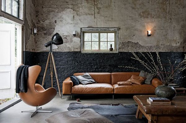 Leather Couch for Male Living Space Ideas