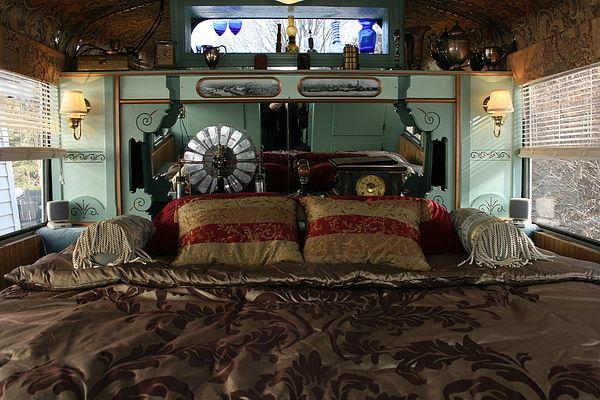 Old Clock + Steampunk Bedding
