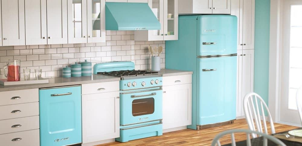 Retro Turquoise Kitchen Appliance Design