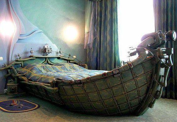 Steampunk Heavy Metal Boat Bed