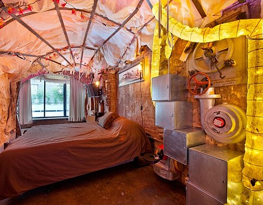 Steampunk Industrial Style Bedroom