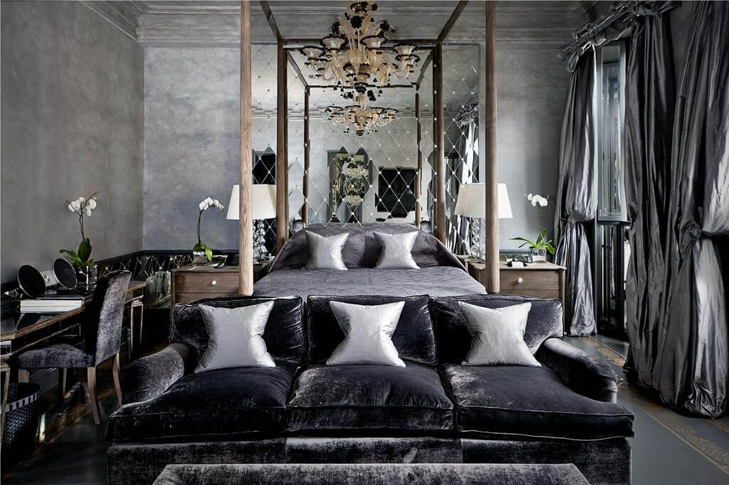 Stylish Silver Steampunk Bedroom