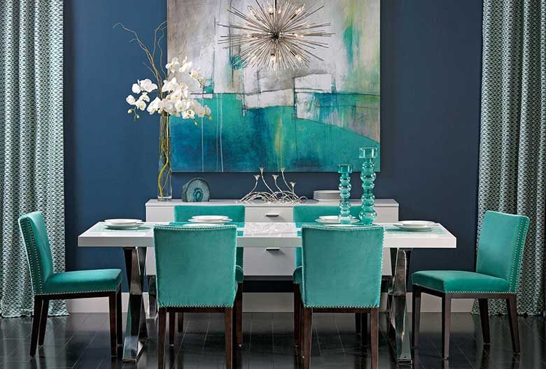 Turquoise Dining Room Chair