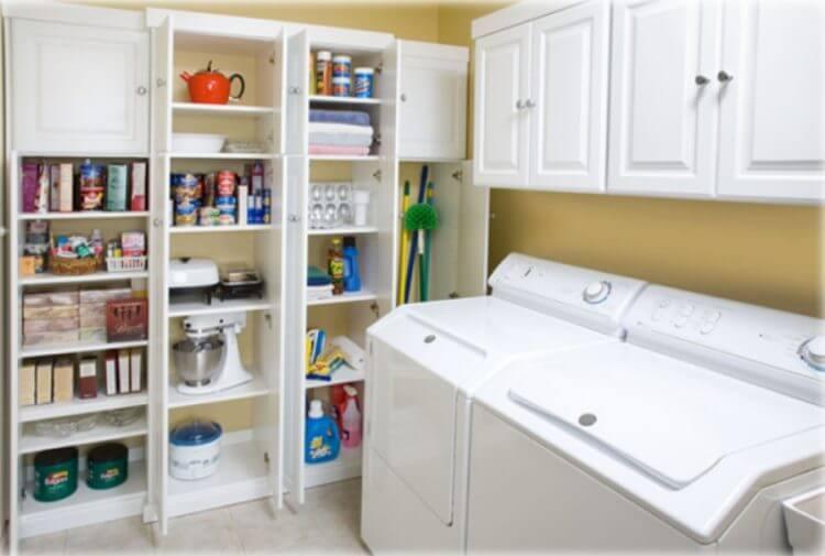 Basement washing room design