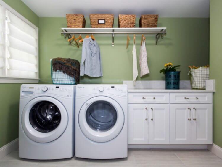 Basement washing room