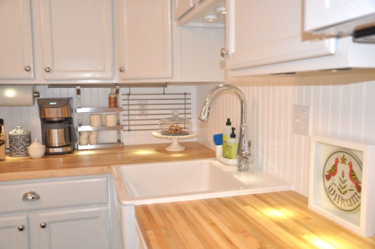 Beadboard Kitchen Backsplash