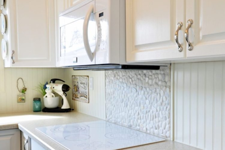 Beadboard Backsplash DIY