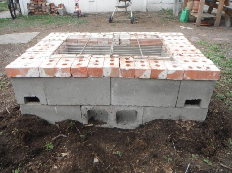 Cinder Block Gas Fire Pit