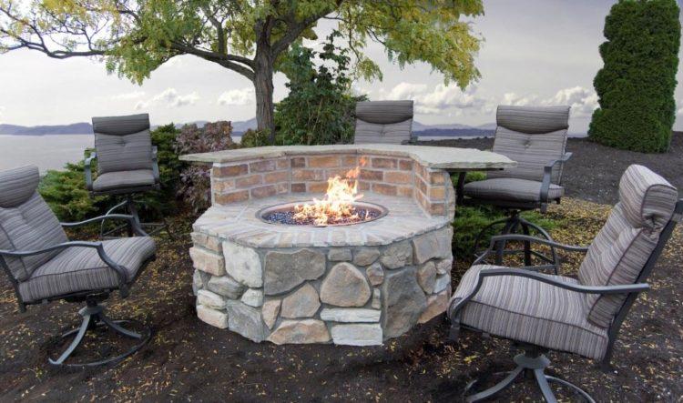 Cinder Block Fire Pit Design