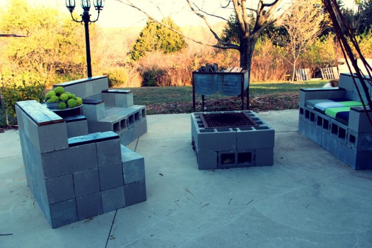 Cinder Block for Fire Pit