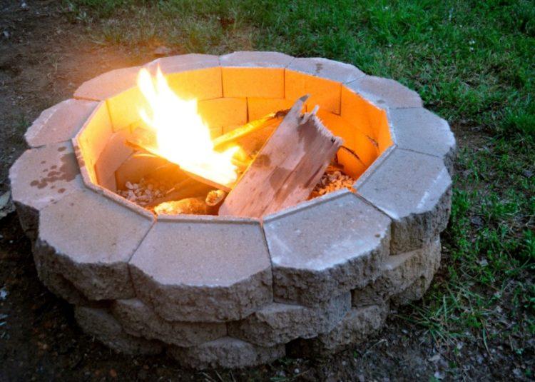 DIY Cinder Block Fire Pit