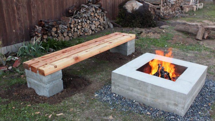 Simple Cinder Block fire pit