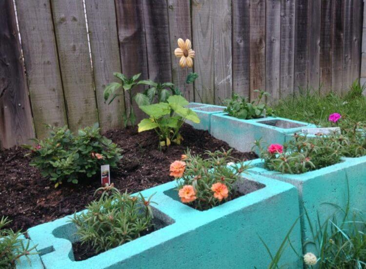 cinder block raised garden