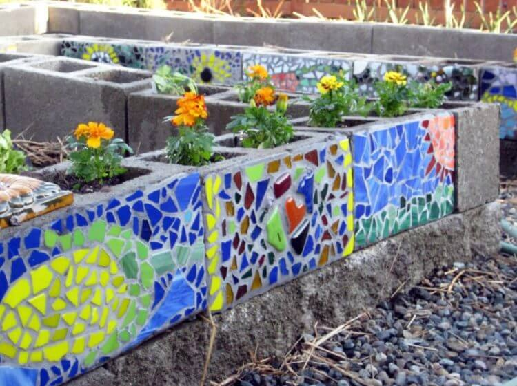 cinder block vegetable garden
